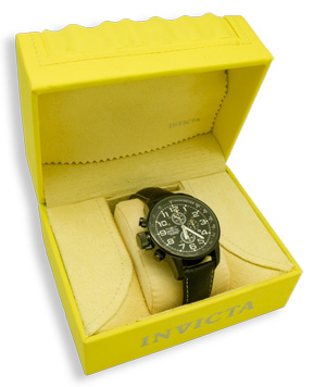 Invicta Black WAtch in Box